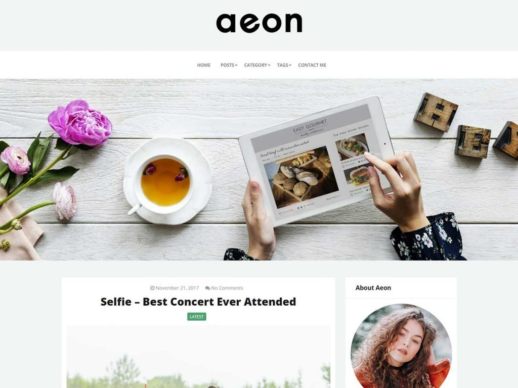 Accessibility Ready WordPress Themes AeonBlog Screenshot