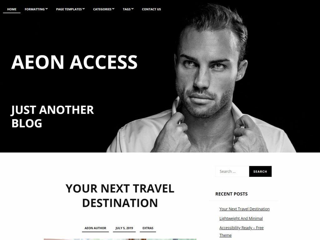 Accessible Blog Theme AeonAccess
