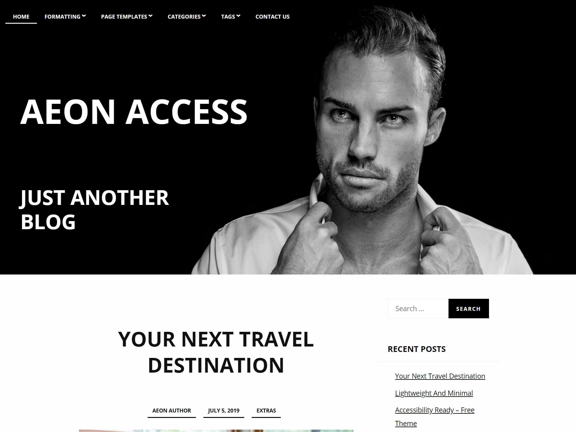 Accessible Blog Theme AeonAccess