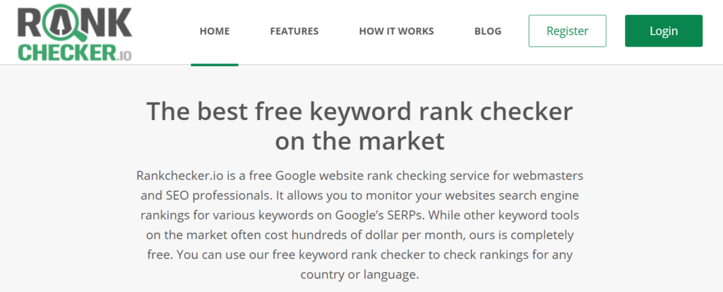 Rank Checker Tools for WordPress