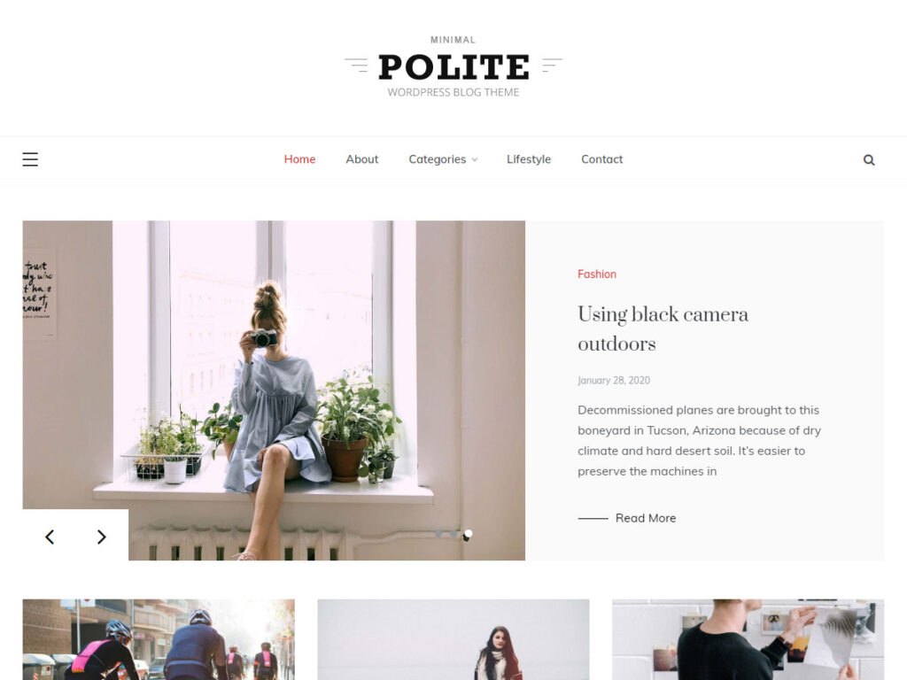 Polite WordPress Theme for Blog