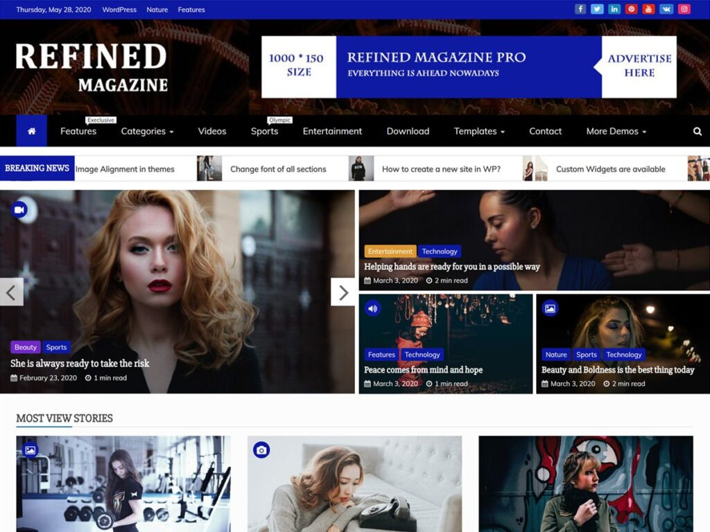 Refined Magazine Free WordPress Magazine Themes