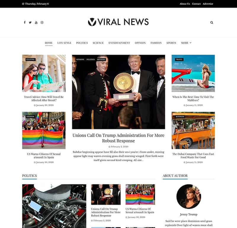 Viral News Mag Theme