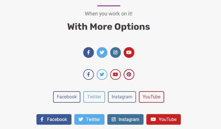 Social Links Block